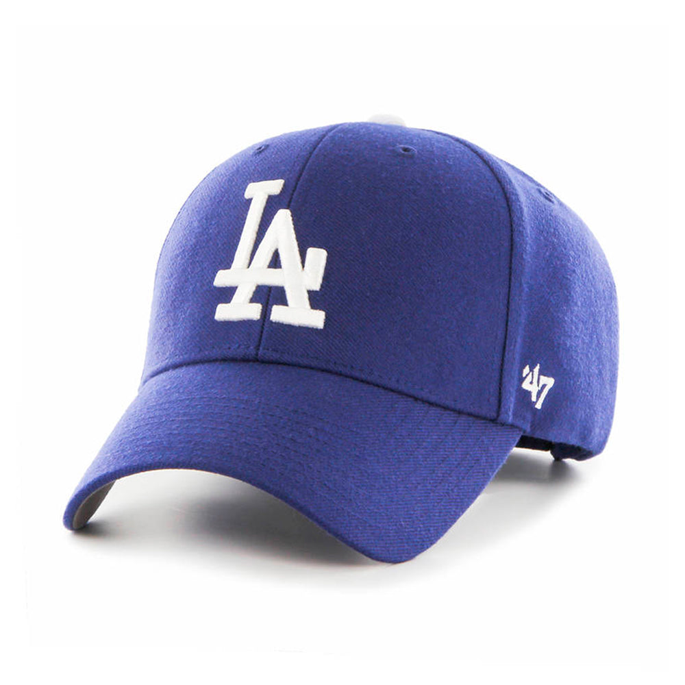 47 Brand LA Dodgers MVP Adjustable Velcro Royal Blue White Blå Hvid