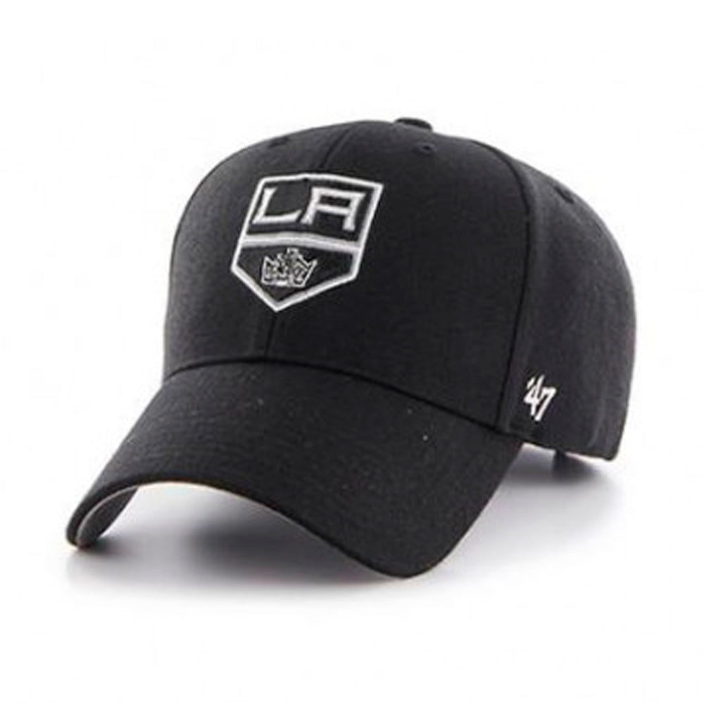 47 Brand Los Angeles LA Kings MVP Adjustable Justerbar Velcro Black Sort H-MVP08WBV-BK