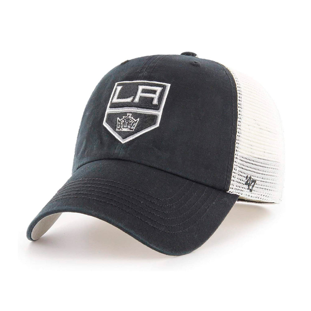 47 Brand Los Angeles La Kings Closer Trucker Stretch Fit Black White Sort Hvid H-BLHLL08GWE-BK