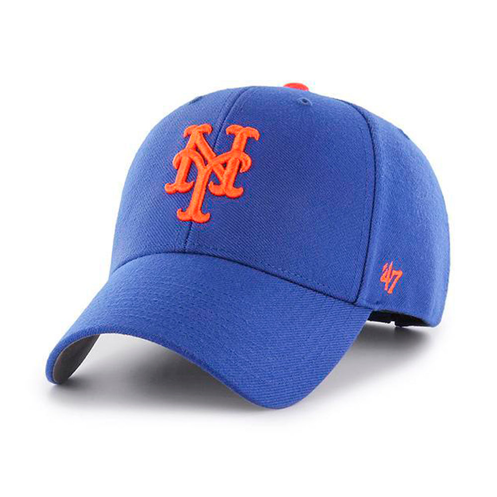 47 Brand New York NY Mets MVP Adjustable Blue Orange Blå B-MVP16WBV-HM