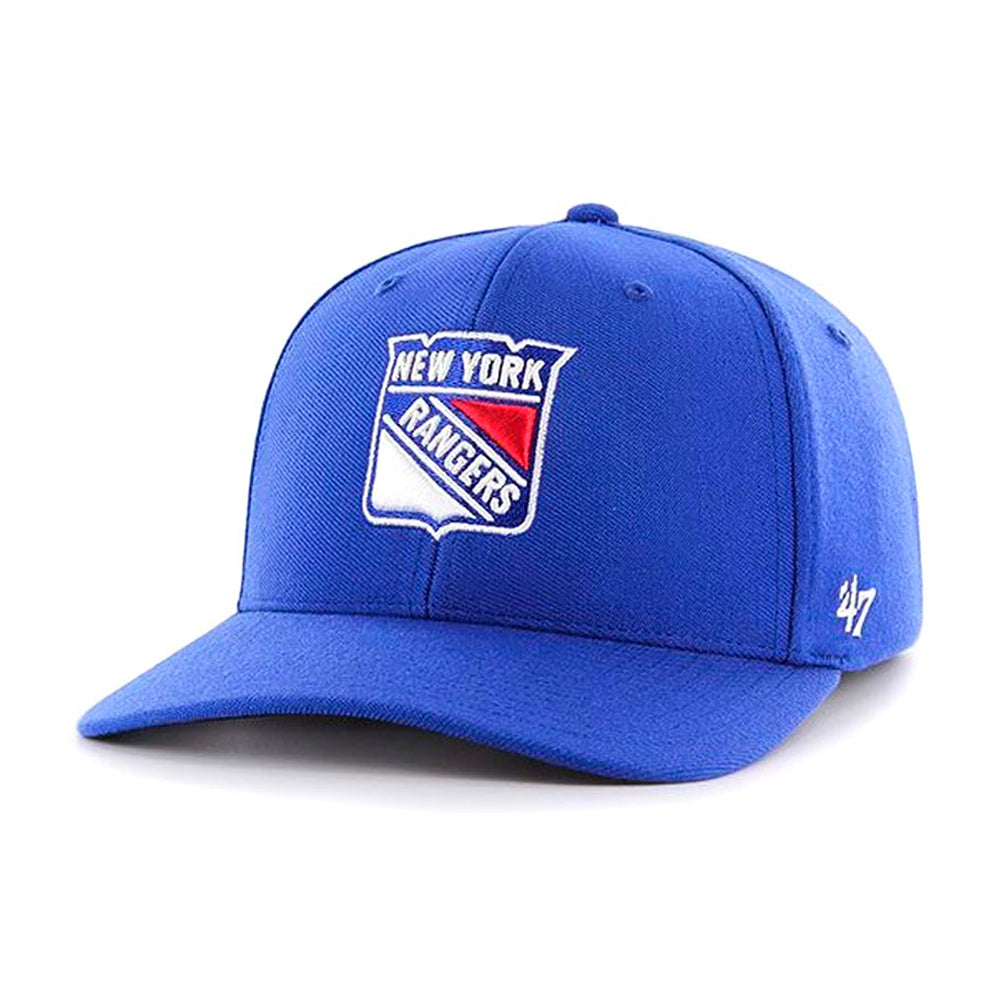 47 Brand New York NY Rangers Contender Flexfit Royal Blue Red White Kongeblå Rød Hvid H-CNTDF13WSE-RY