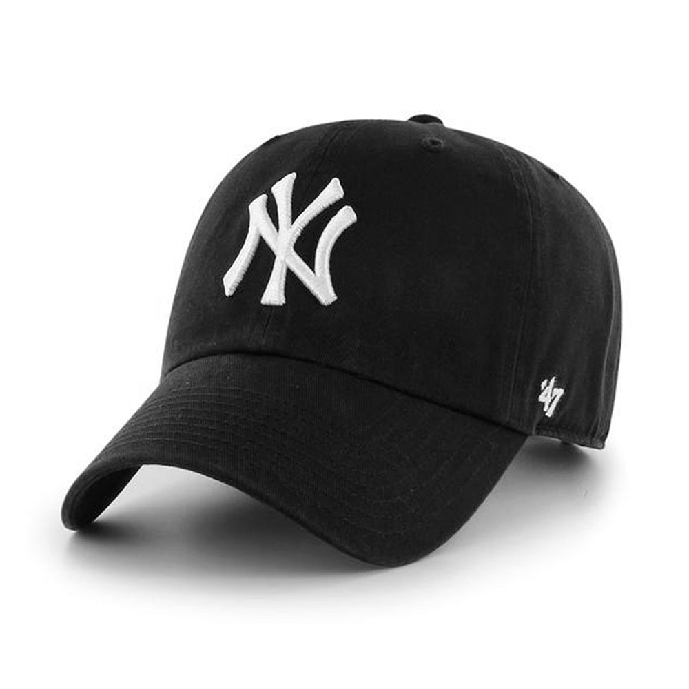 47 Brand NY Yankees Clean Up Black Justerbar Sort