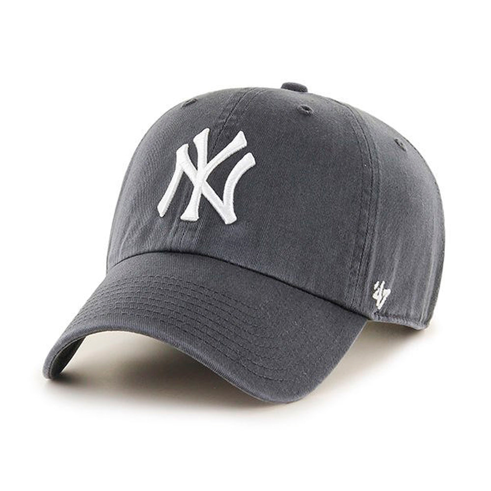 47 Brand NY Yankees Clean Up Dark Grey Justerbar Dust Blå
