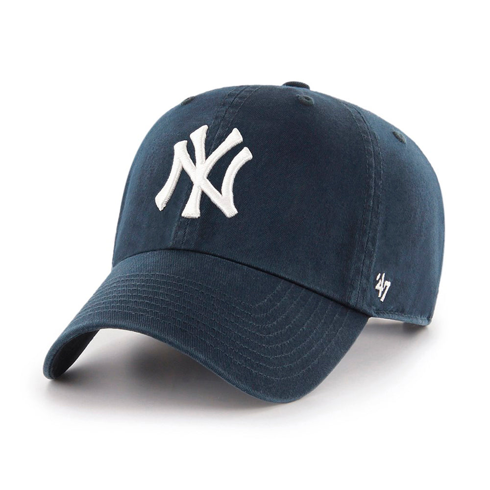 47 Brand New York NY Yankees Clean Up Adjustable Justerbar Navy Blå B-RGW17GWS-HM