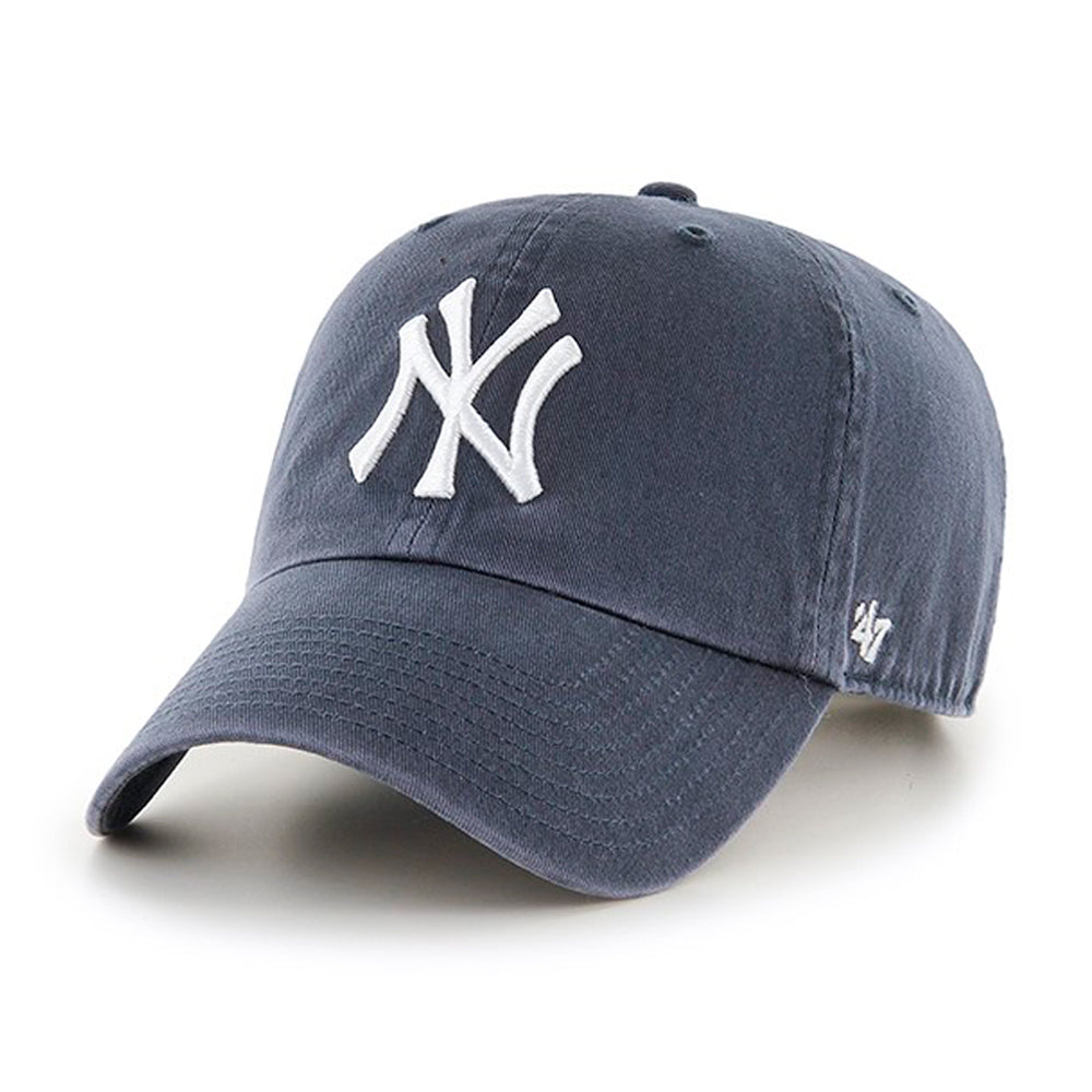 47 Brand New York NY Yankees Clean Up  Adjustable Justerbar Vintage Navy Blå B-RGW17GWS-VN