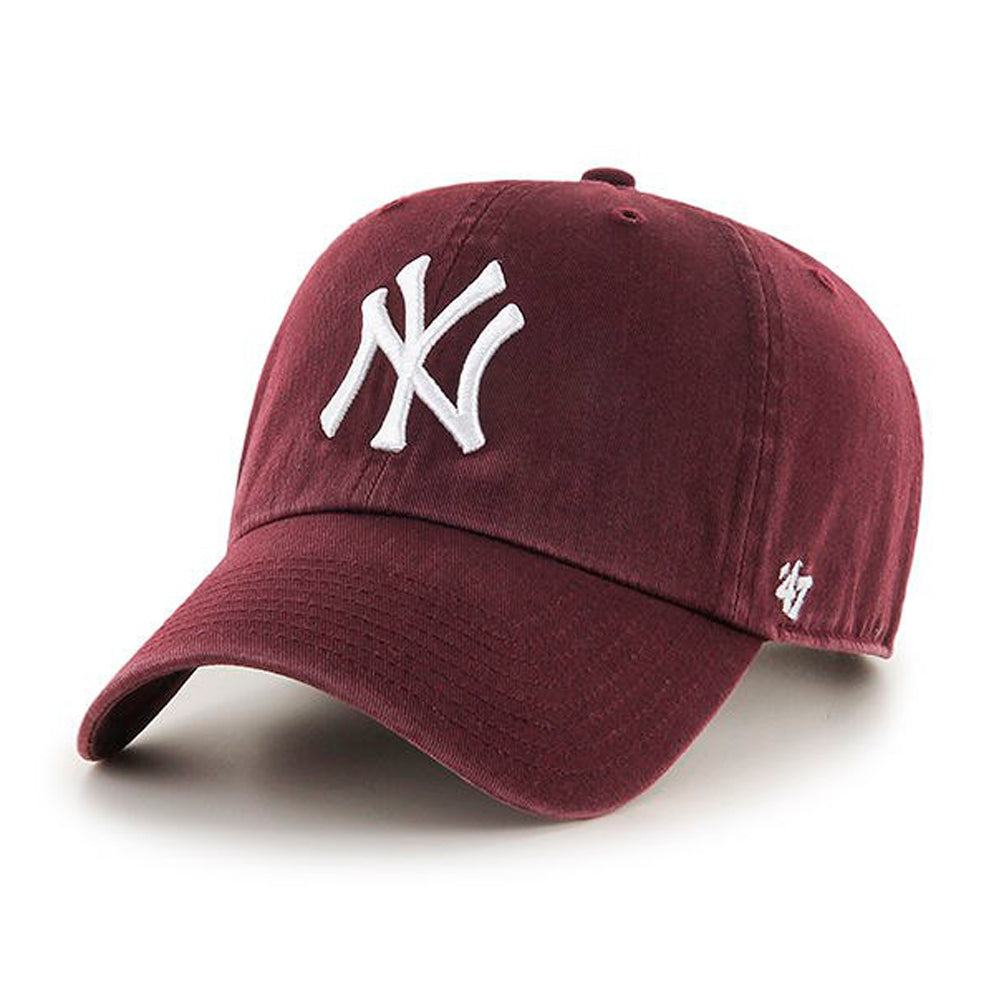 47 Brand NY Yankees Clean Up Justerbar Maroon Rød