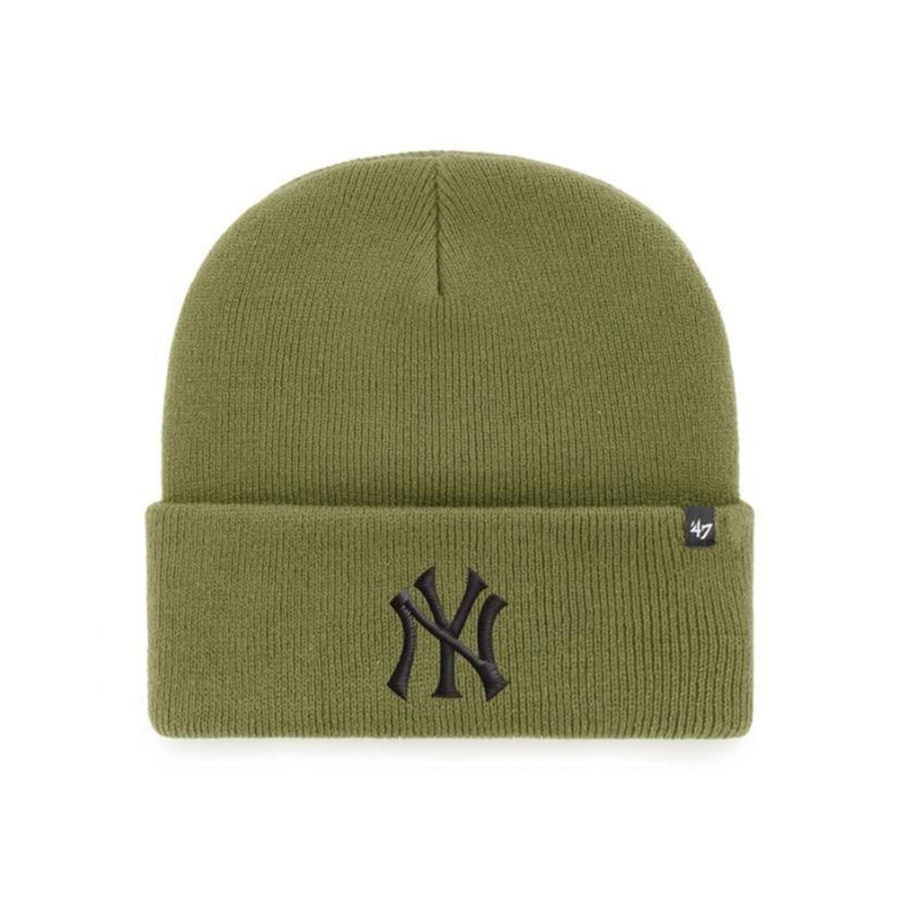 47 Brand New York NY Yankees Haymaker Beanie Fold Up Sandalwood Green Black Grøn Sort B-HYMKR17ACE-SWD