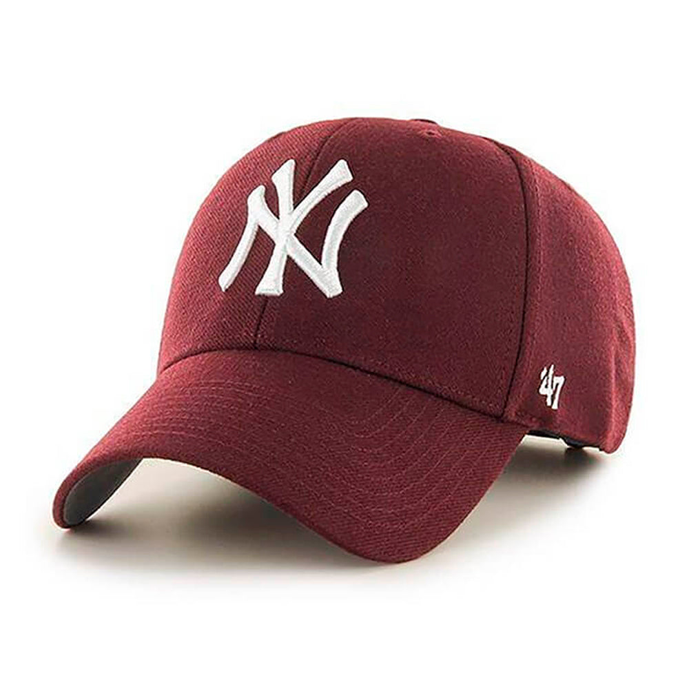 47 Brand New York NY Yankees MVP Adjustable Dark Maroon Rød