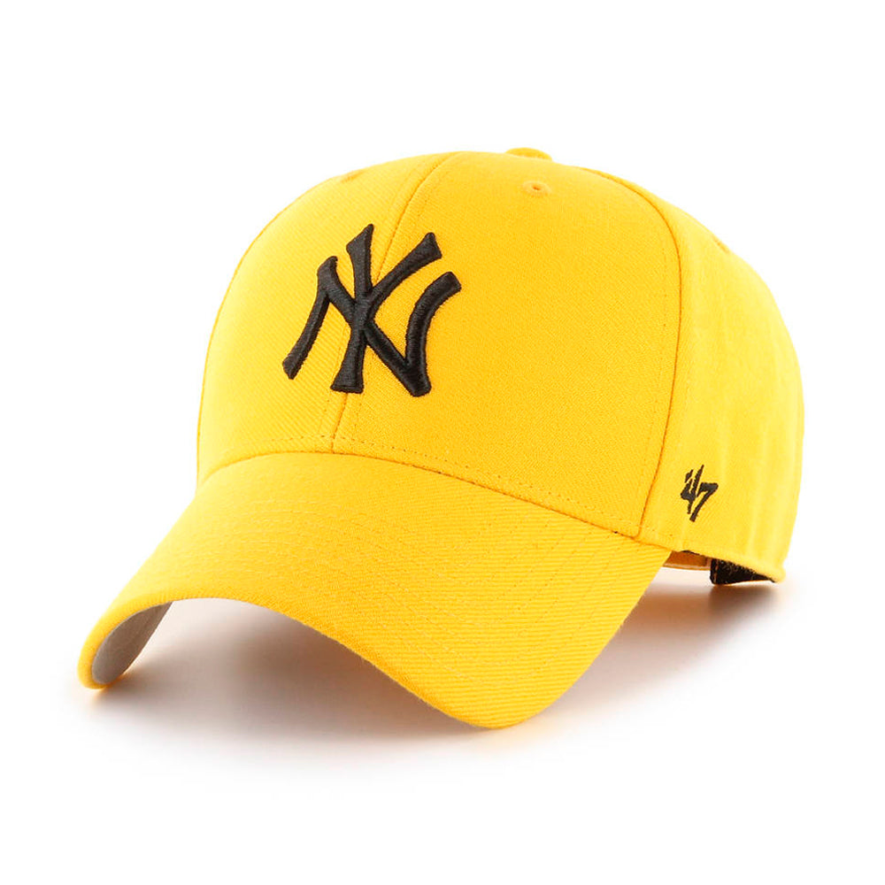 47 Brand NY New York Yankees MVP Snapback Yellow Black Gul Sort