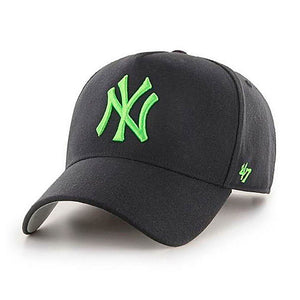 47 Brand MLB NY New York Yankees MVP DT Snapback Black Green Sort Grøn