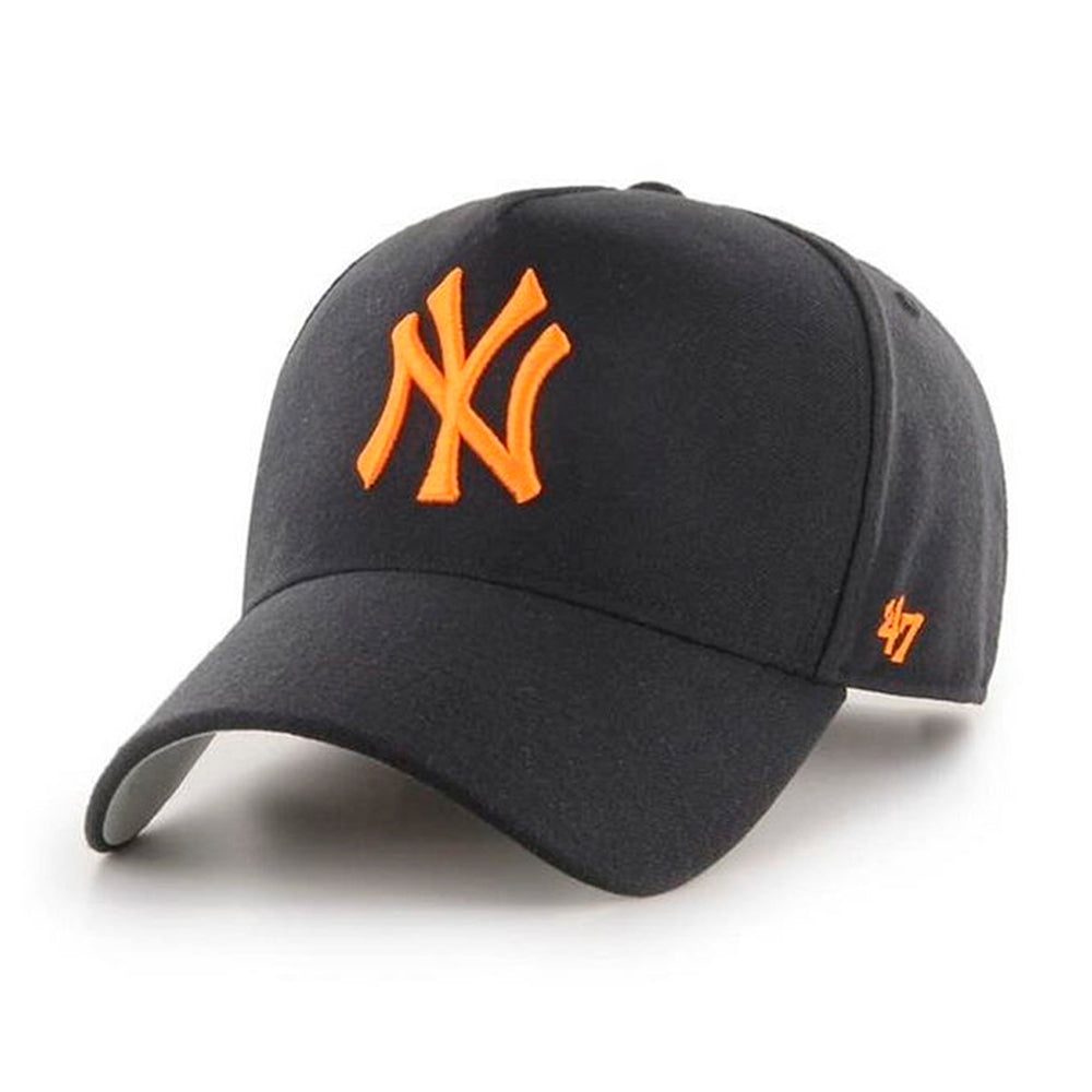47 Brand MLB NY New York Yankees MVP DT Snapback Black Orange Sort