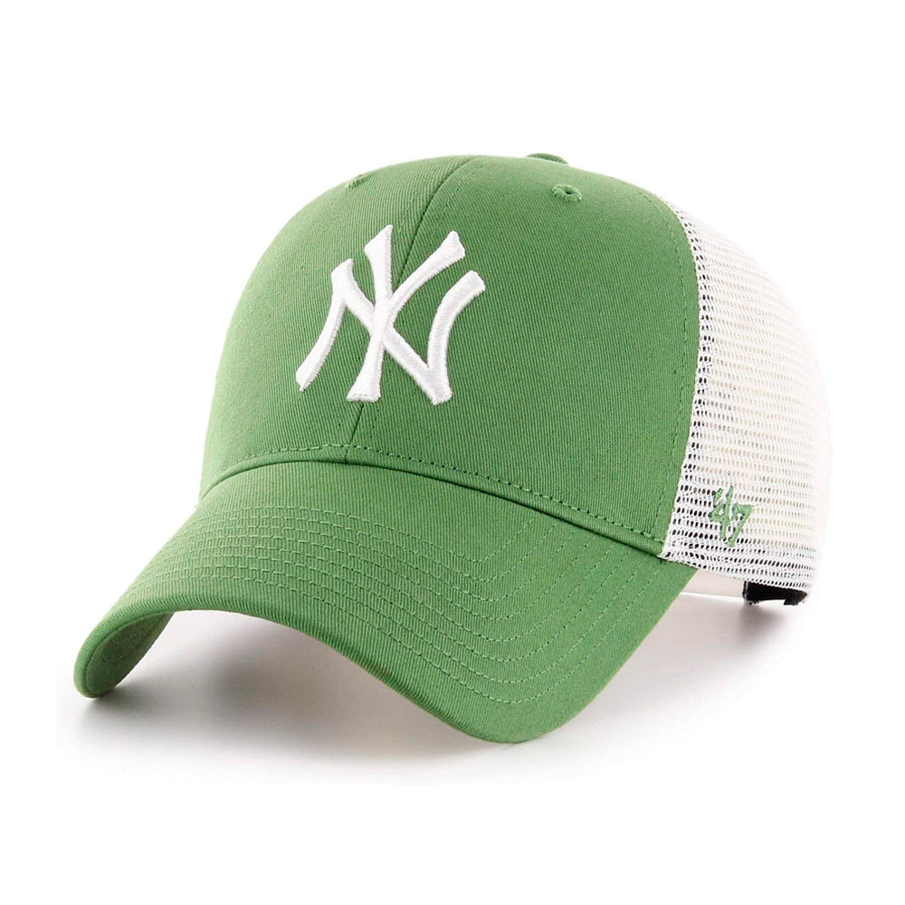 47 Brand MLB NY New York Yankees MVP Flagship Trucker Snapback Fatigue Green White Grøn Hvid