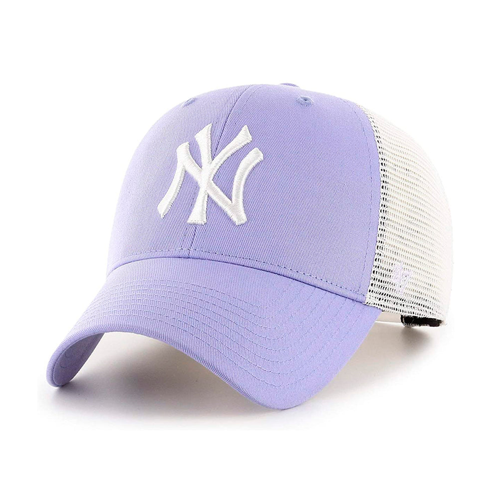 47 Brand MLB NY New York Yankees MVP Flagship Trucker Snapback Lavender Purple/White Lilla Hvid