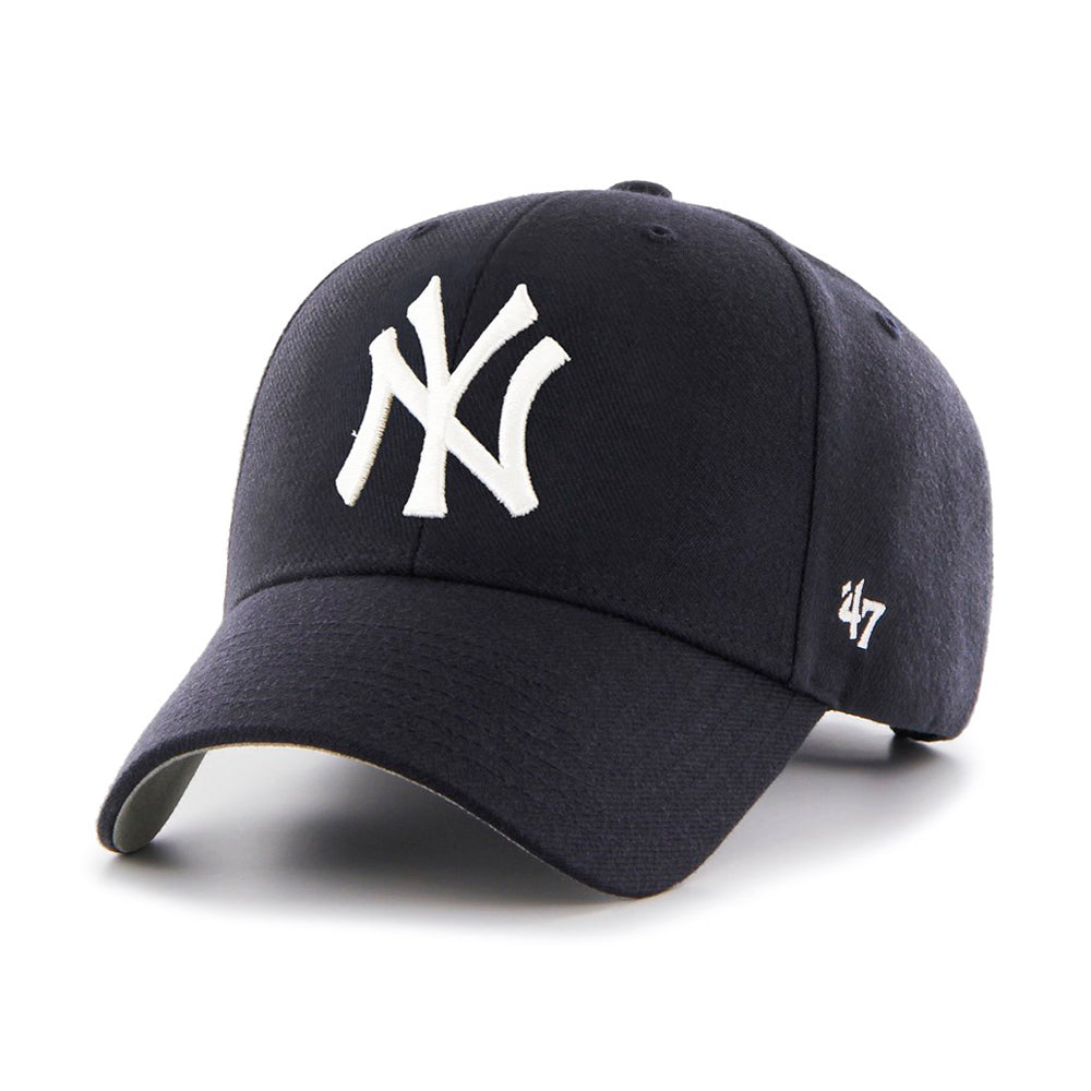47 Brand MLB New York NY Yankees MVP Home Adjustable Velcro Justerbar Dark Navy White Mørkeblå Hvid B-MVP17WBV-HM