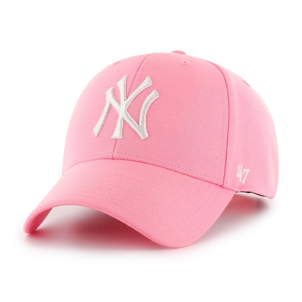 47 Brand New York NY Yankees MVP Snapback Rose Lyserød