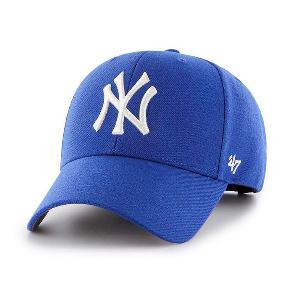 47 Brand New York NY Yankees MVP Snapback Royal Blue White Kongeblå Hvid B-MVPSP17WBP-RY