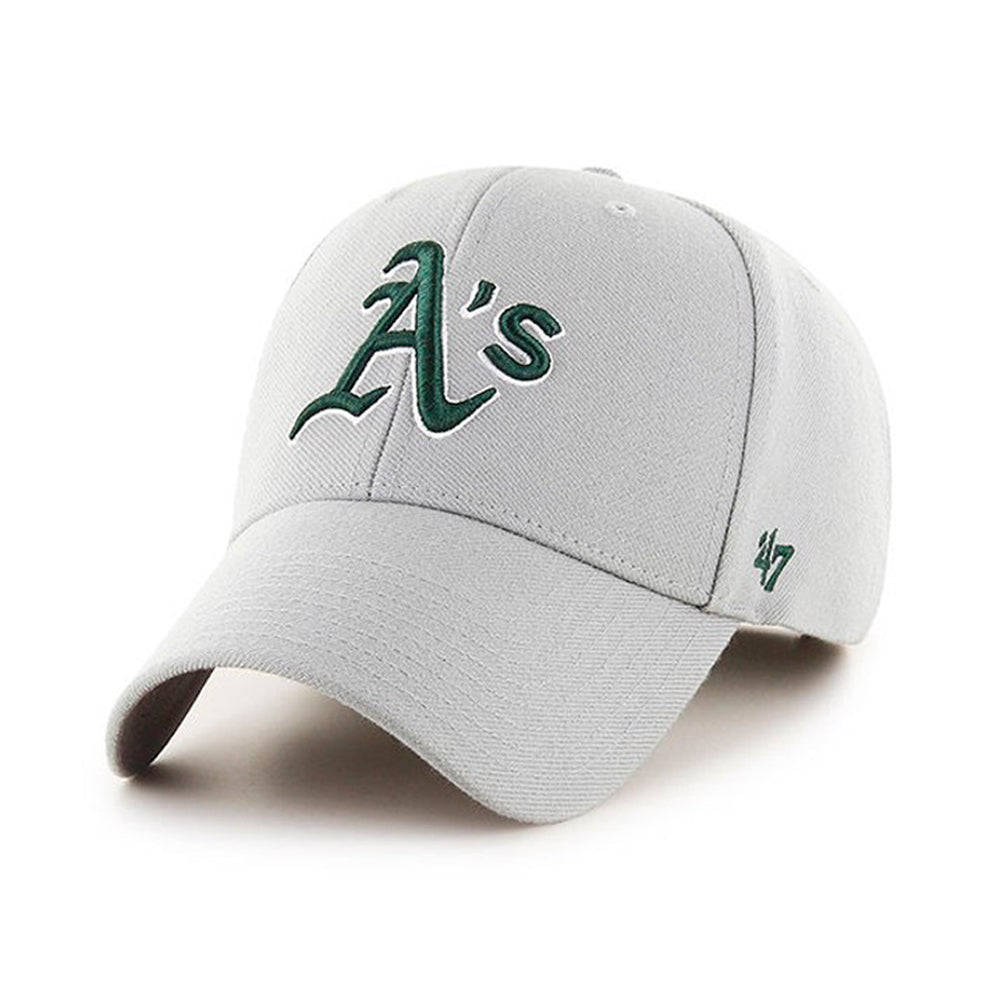 47 Brand Oakland Athletics MVP Adjustable Velcro Justerbar Grey Green Grå Grøn B-MVP18WBV-GY