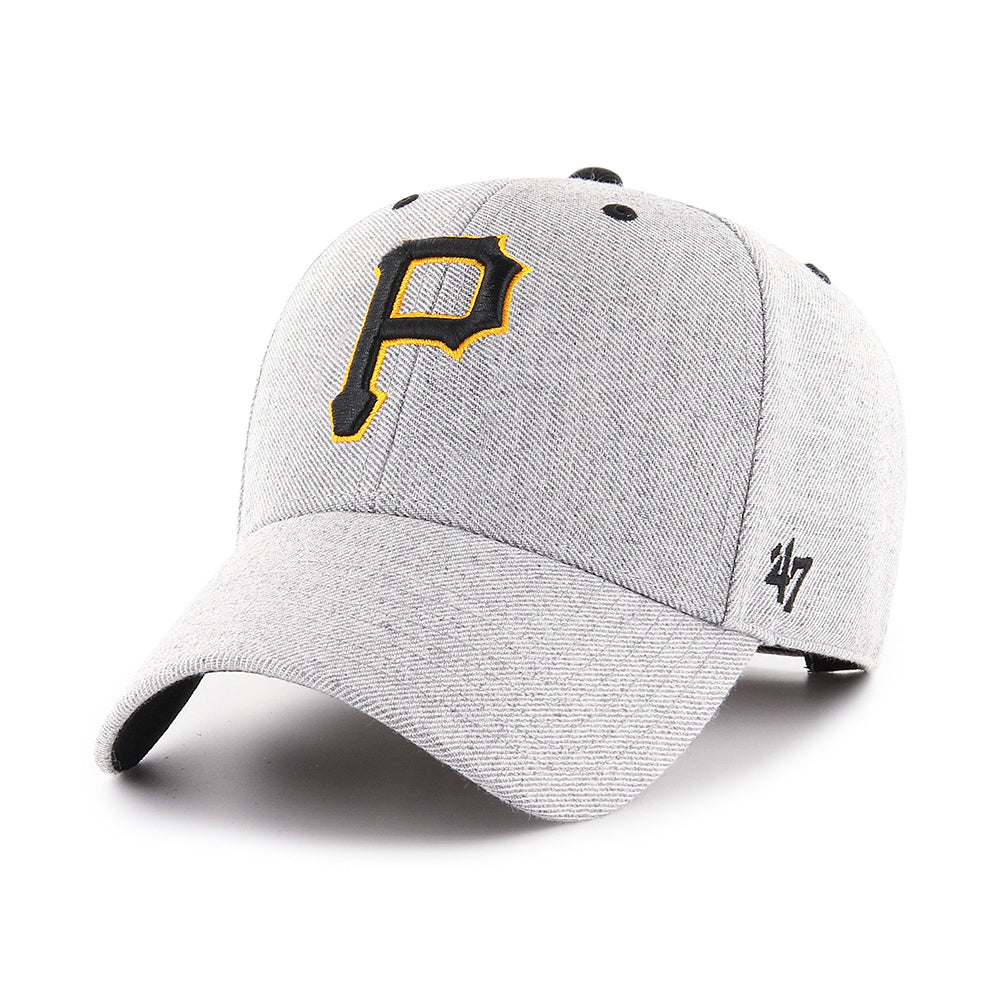 47 Brand MLB Pittsburgh Pirates MVP Storm Cloud Adjustable Velcro Charcoal Black Grå Sort