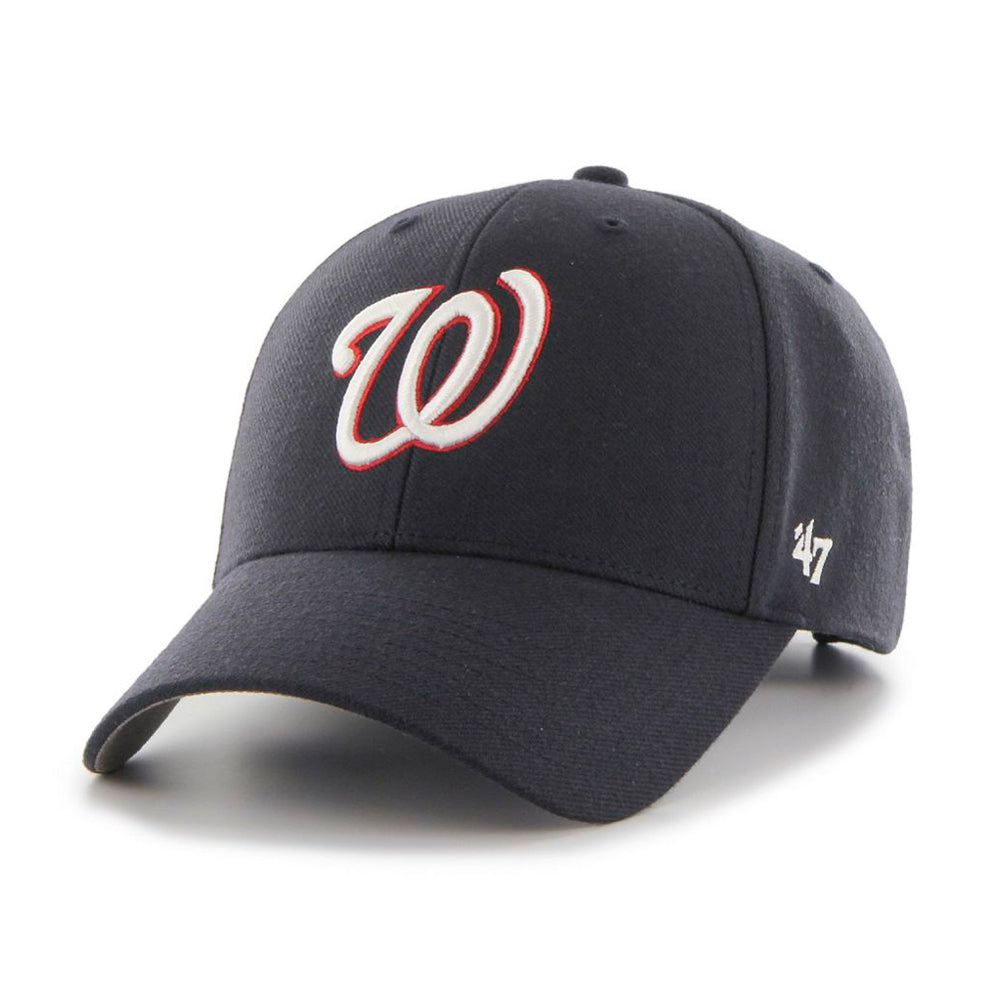 47 Brand Washington Nationals MVP Adjustable Velcro Justerbar Navy White Red Blå Hvid Rød B-MVP15WBV-NYA