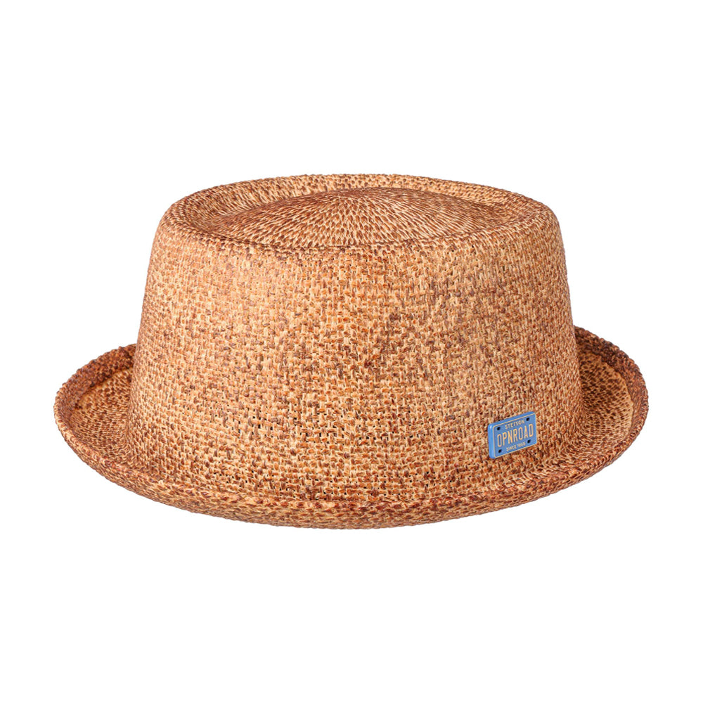 Stetson Townsend Pork Pie Toyo Straw Hat Brown Brun