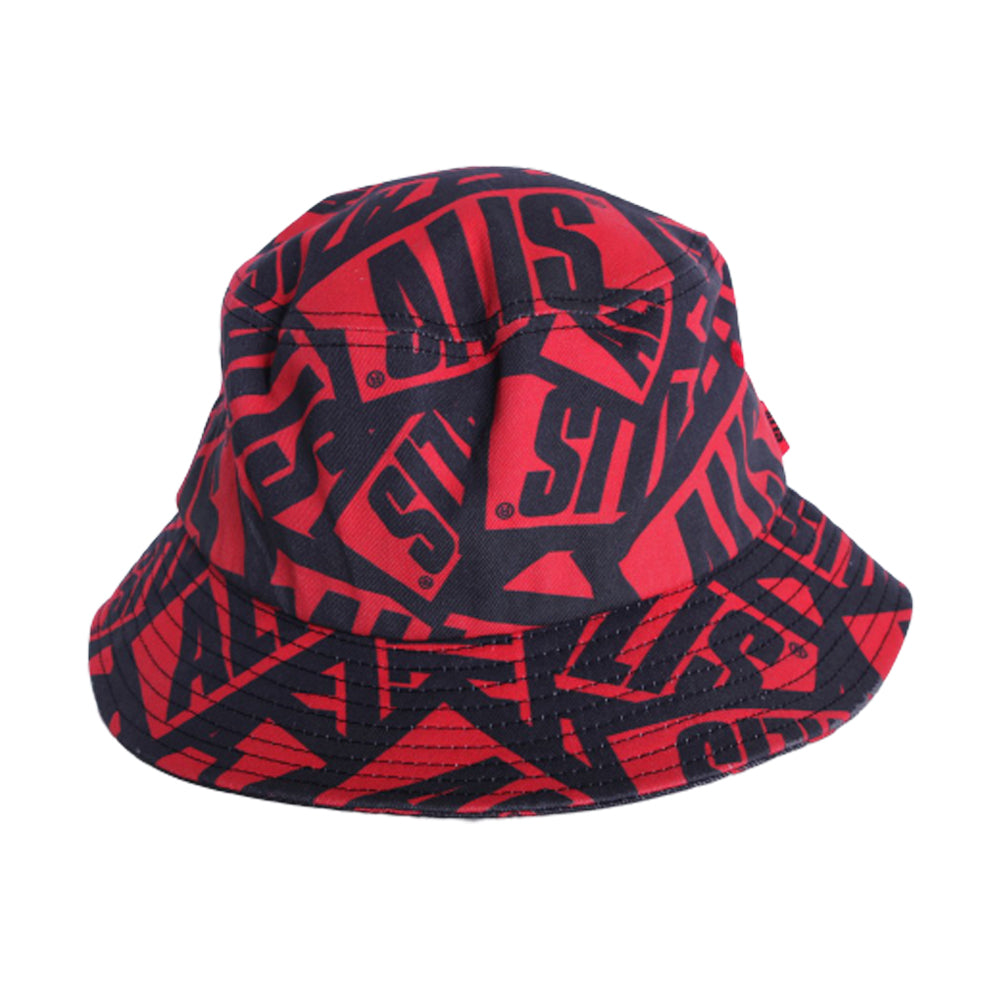 Alis Sticker Game Bucket Hat Bælle Hatte Red Black Rød Sort
