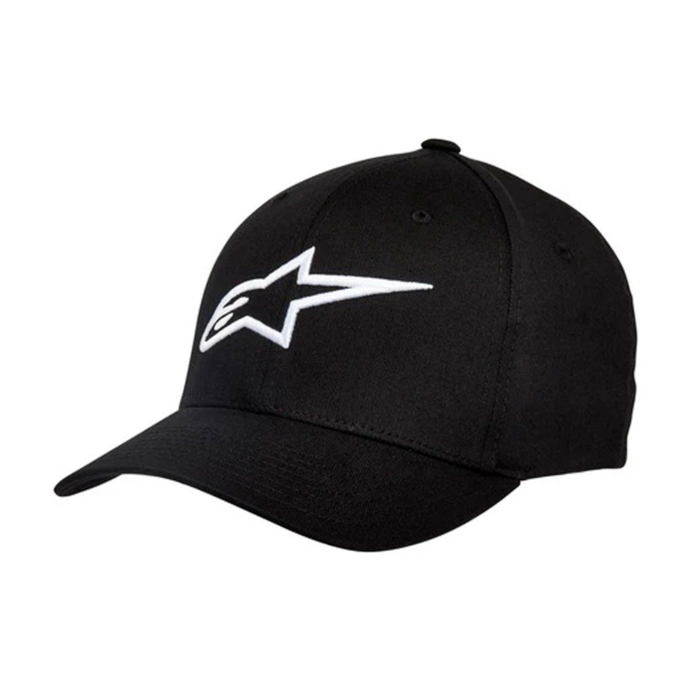 Alpinestars Ageless Curved Hat Flexfit Black White Sort Hvid