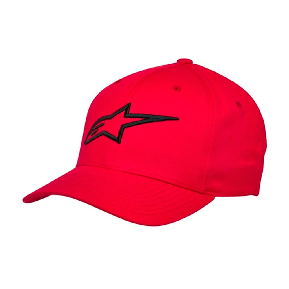 Alpinestars Ageless Curved Hat Flexfit Red Black Rød Sort
