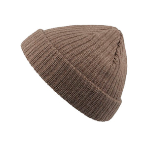 Atlantis Docker Fold Hue Fold Up Beanie Light Brown Melange Brun Lysebrun