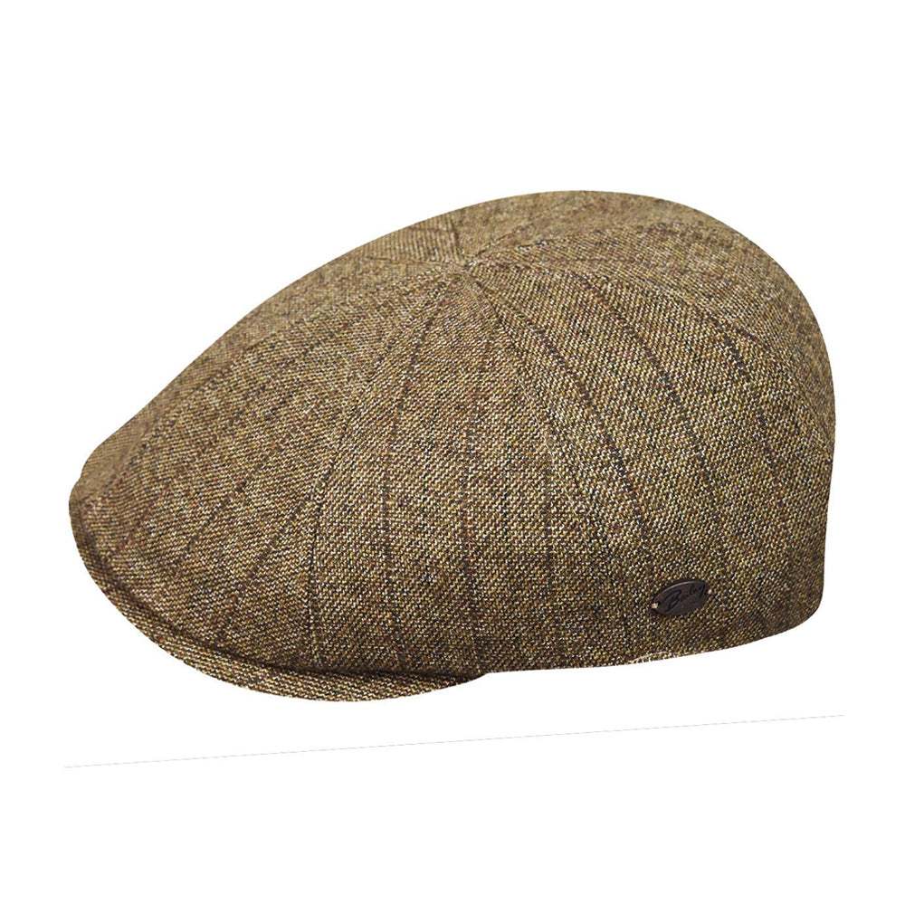 Bailey Edford Sixpence Flat Cap Brown Brun 095-25540BH