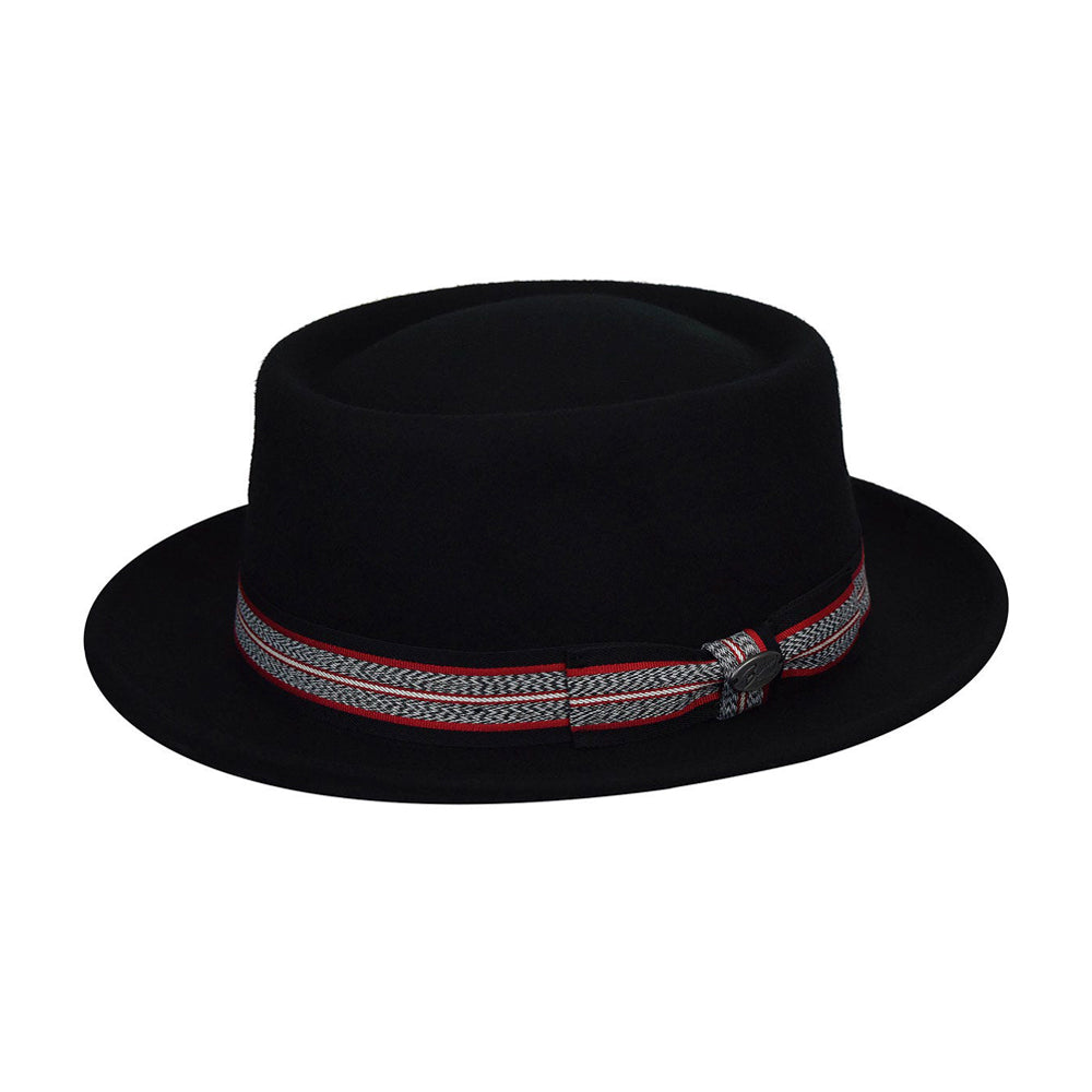 Bailey Klaxon Pork Pie Fedora Hat Black Sort 095-38349BH