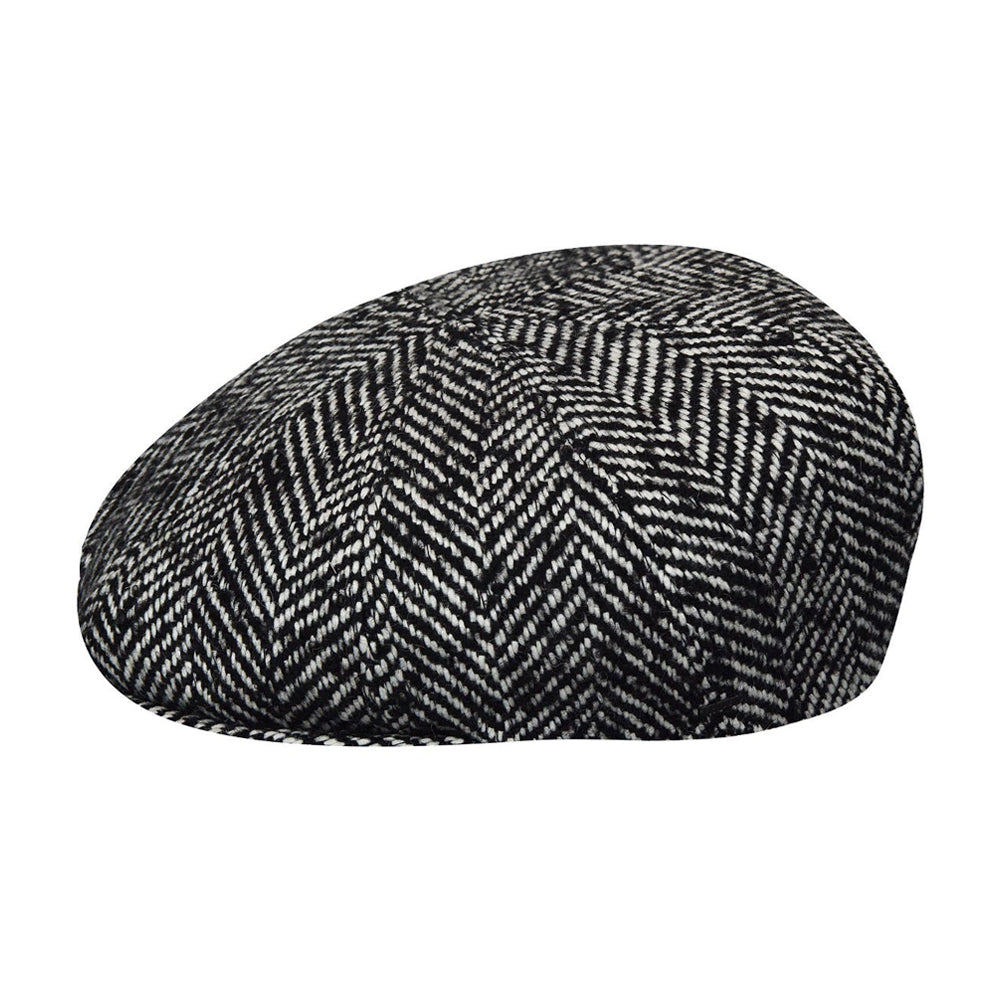Bailey Kufell Sixpence Flat Cap Black Sort 095-25510BH