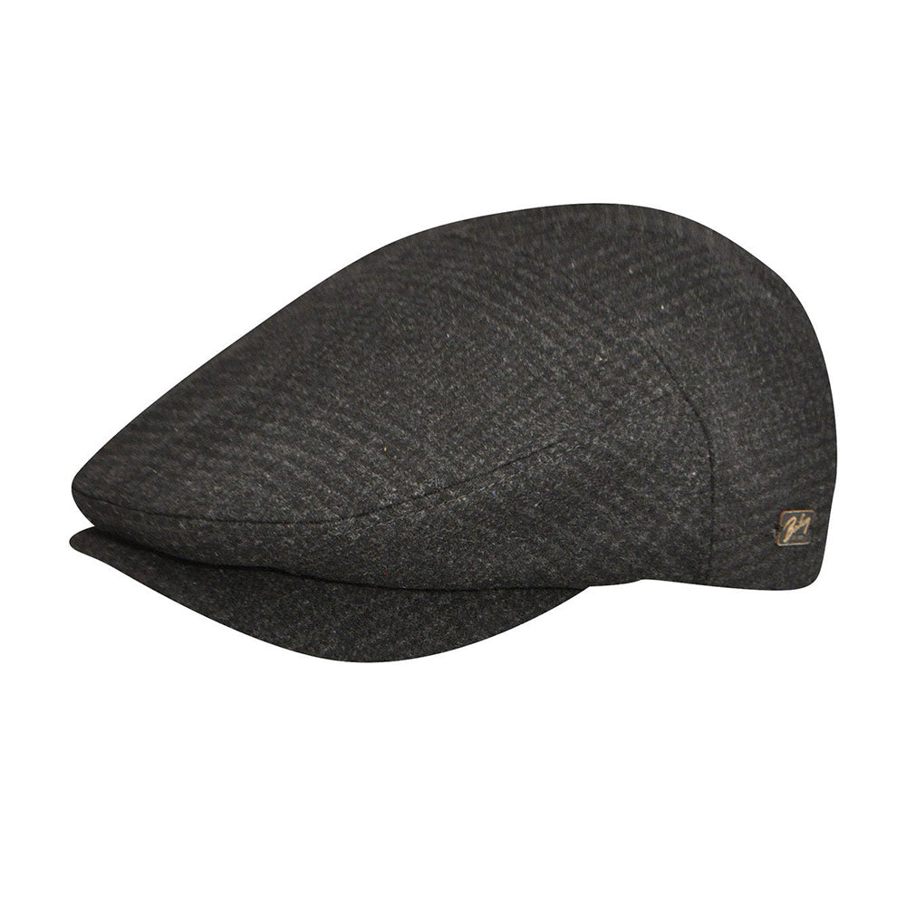 Bailey Ormond Sixpence Flat Cap Black Plaid Sort