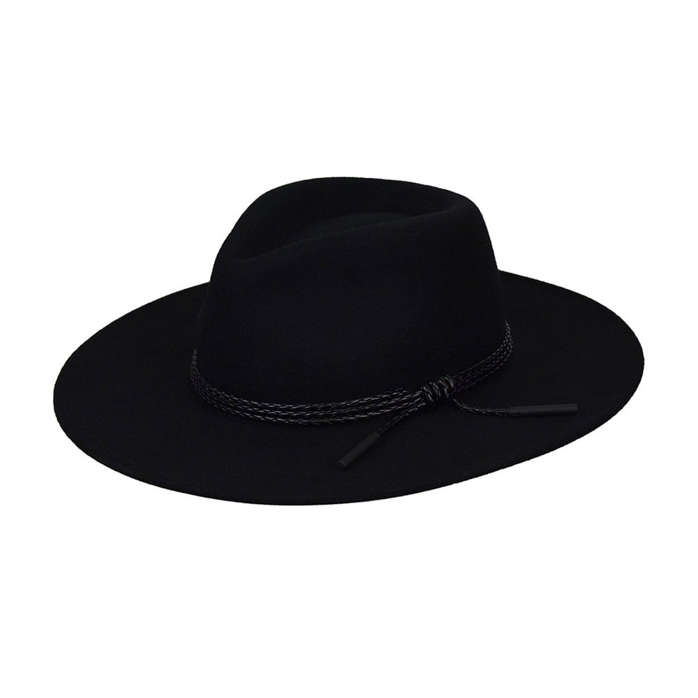 Bailey Piston Fedora Hat Black Sort 095-38350BH