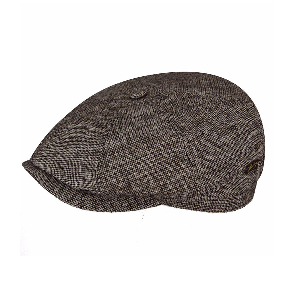 Bailey Rockburn Sixpence Flat Cap Brown Brun