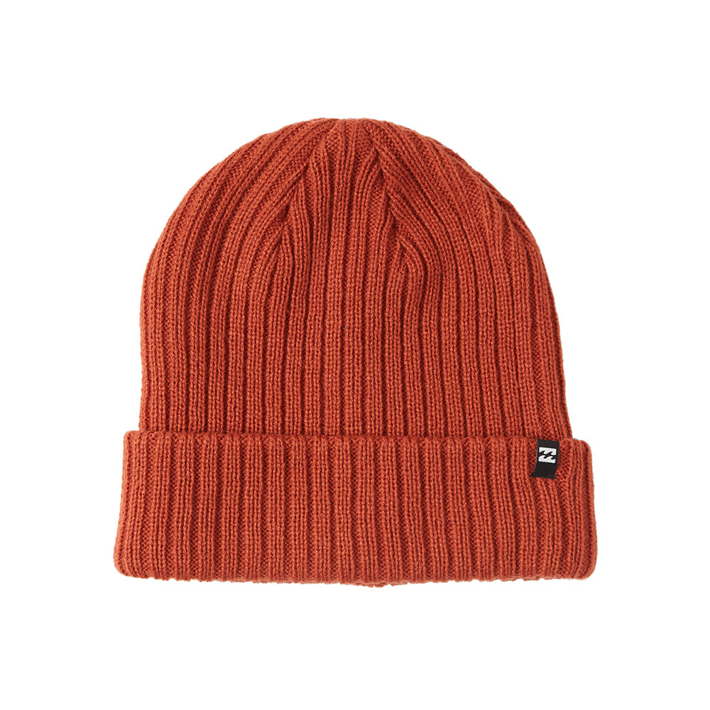 Billabong Arcade Fold Up Beanie Huer Deep Red Rød