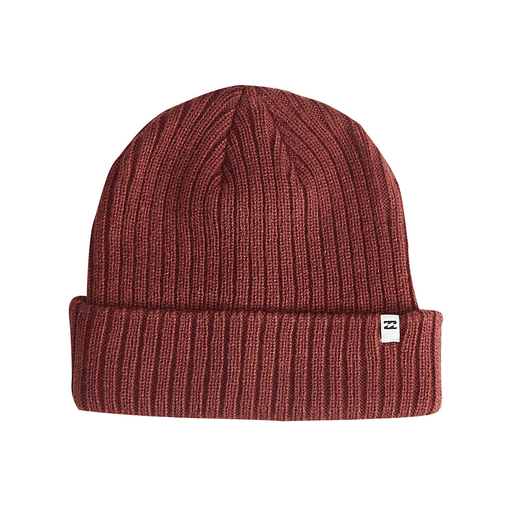 Billabong Arcade Fold Up Beanie Huer Oxblood Rød L5BN04BIF8