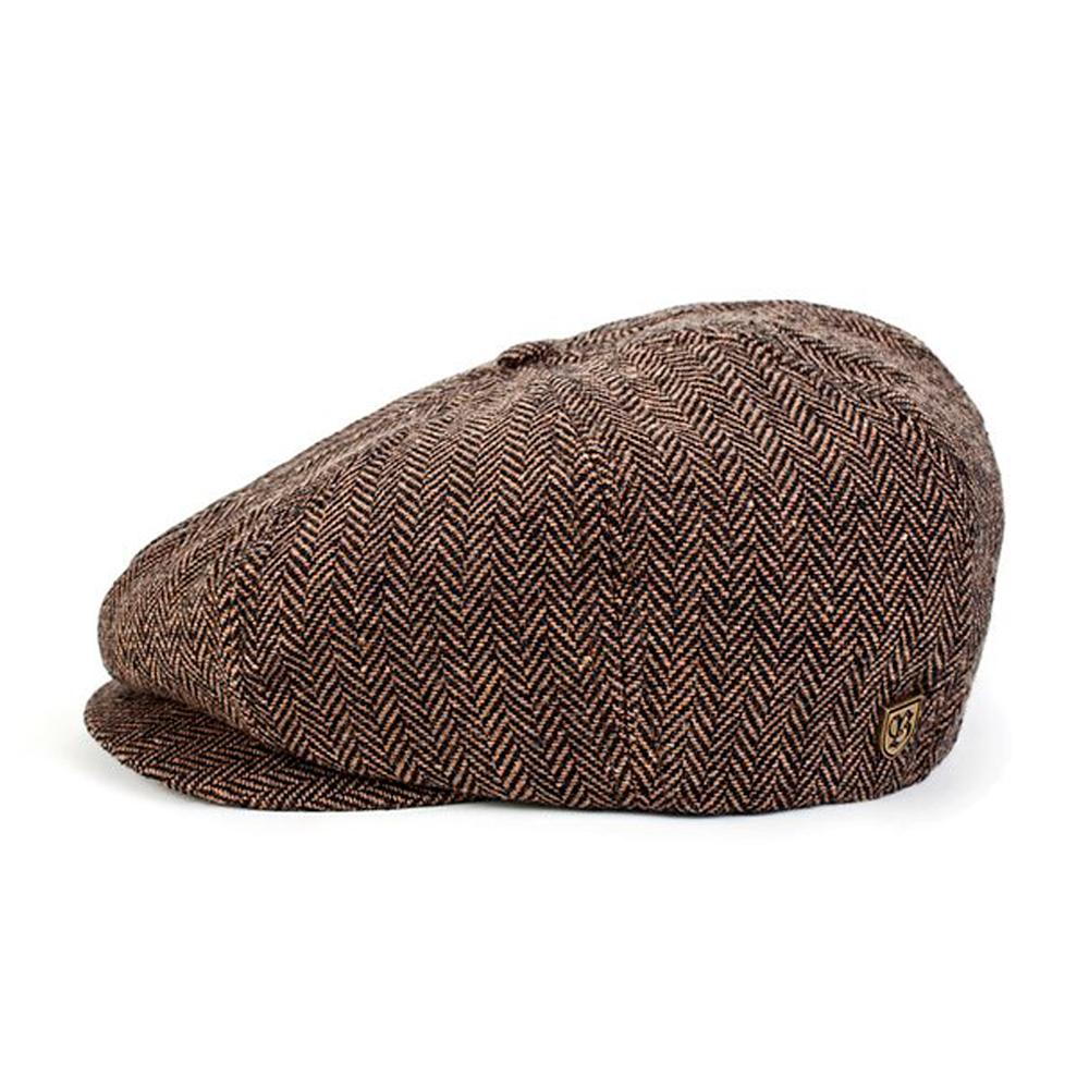 Brixton Brood Snap Cap Flat Cap Brown Khaki Brun