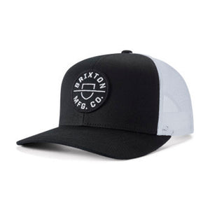 Brixton Crest MP Mesh Cap Trucker Snapback Black White Sort Hvid 10651-BLACK
