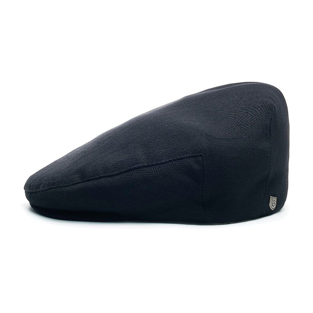 Brixton Hooligan Snap Cap Flat Cap Black Sort