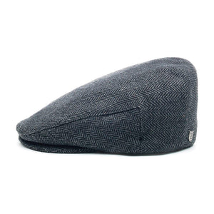Brixton Hooligan Snap Cap Flat Cap Grey Black Grå Sort