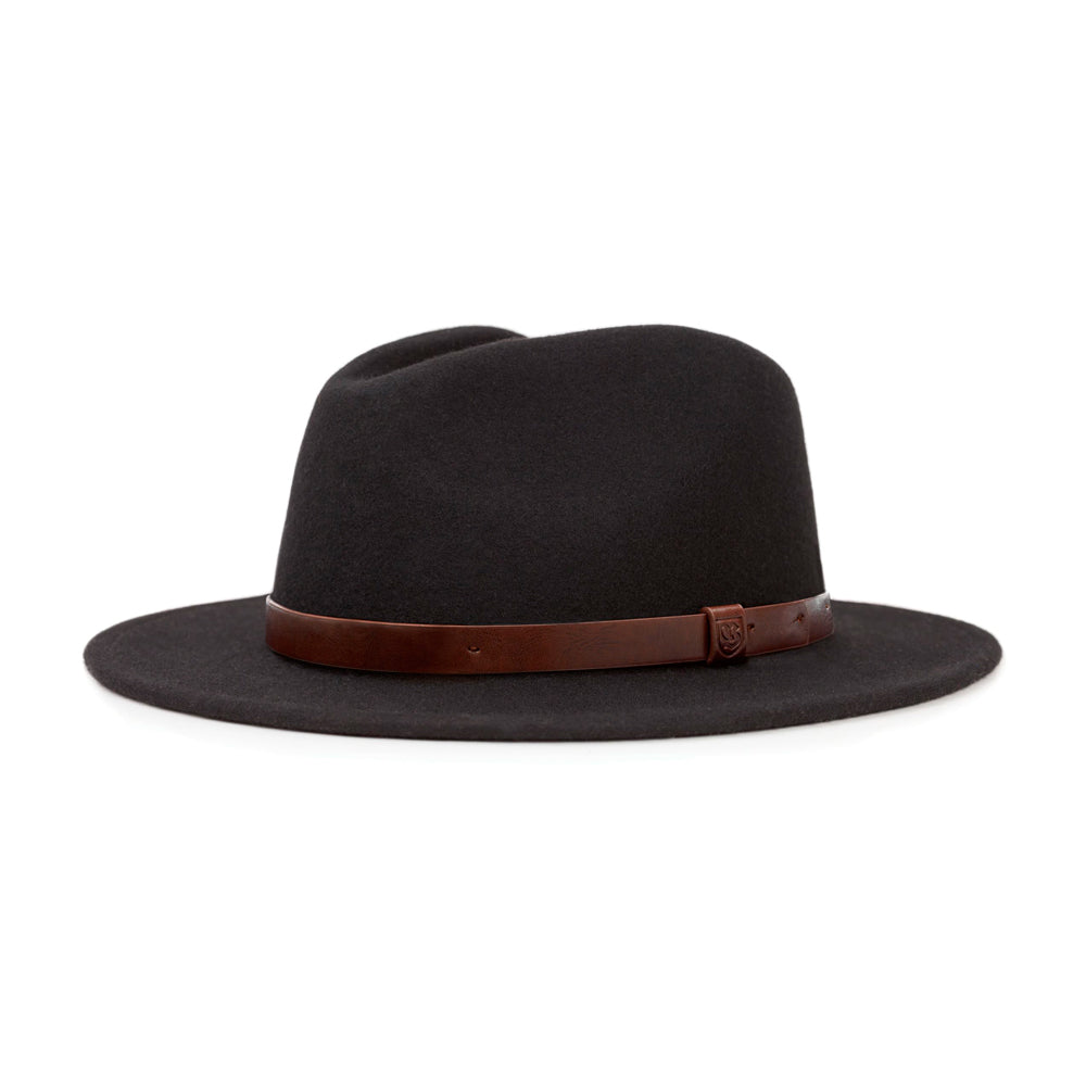Brixton Messer Fedora Hat Black Sort