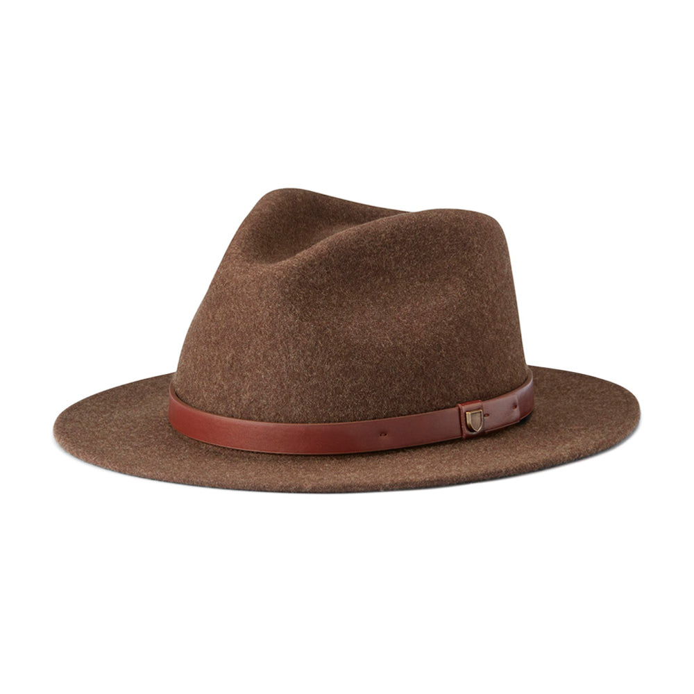 Brixton Messer Fedora Fedora Hat Heather Brown Brun 10763-HTBRN