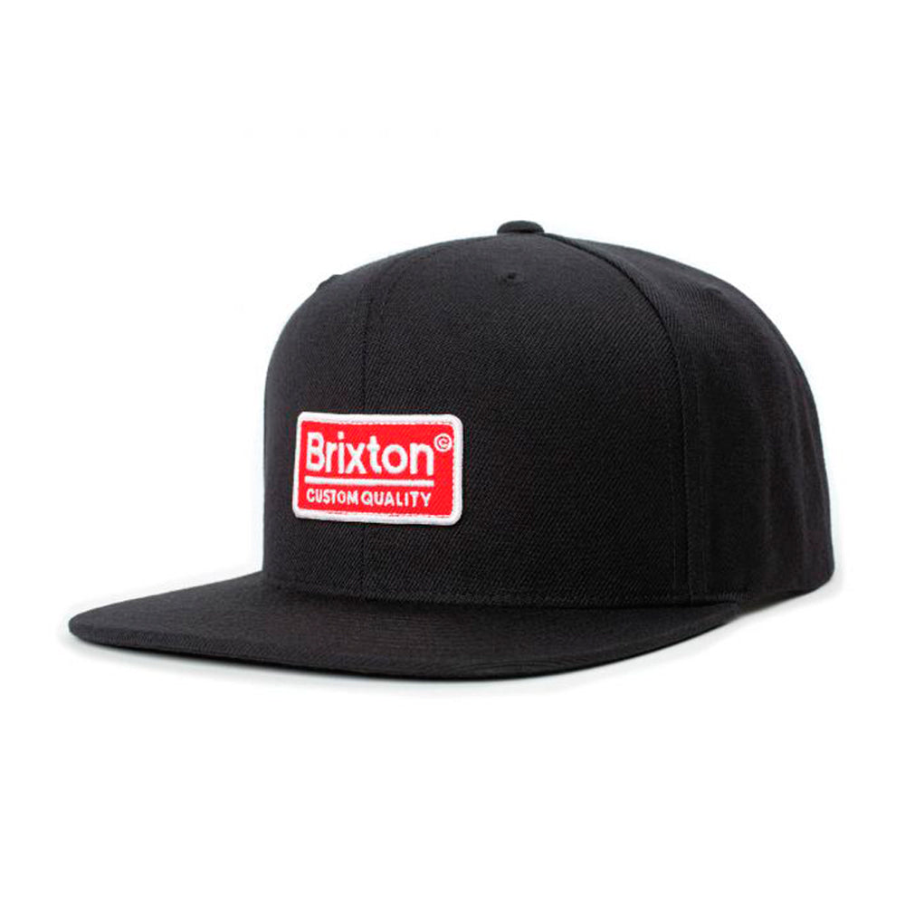 Brixton Palmer II MP Snapback Black Sunrise Sort Rød
