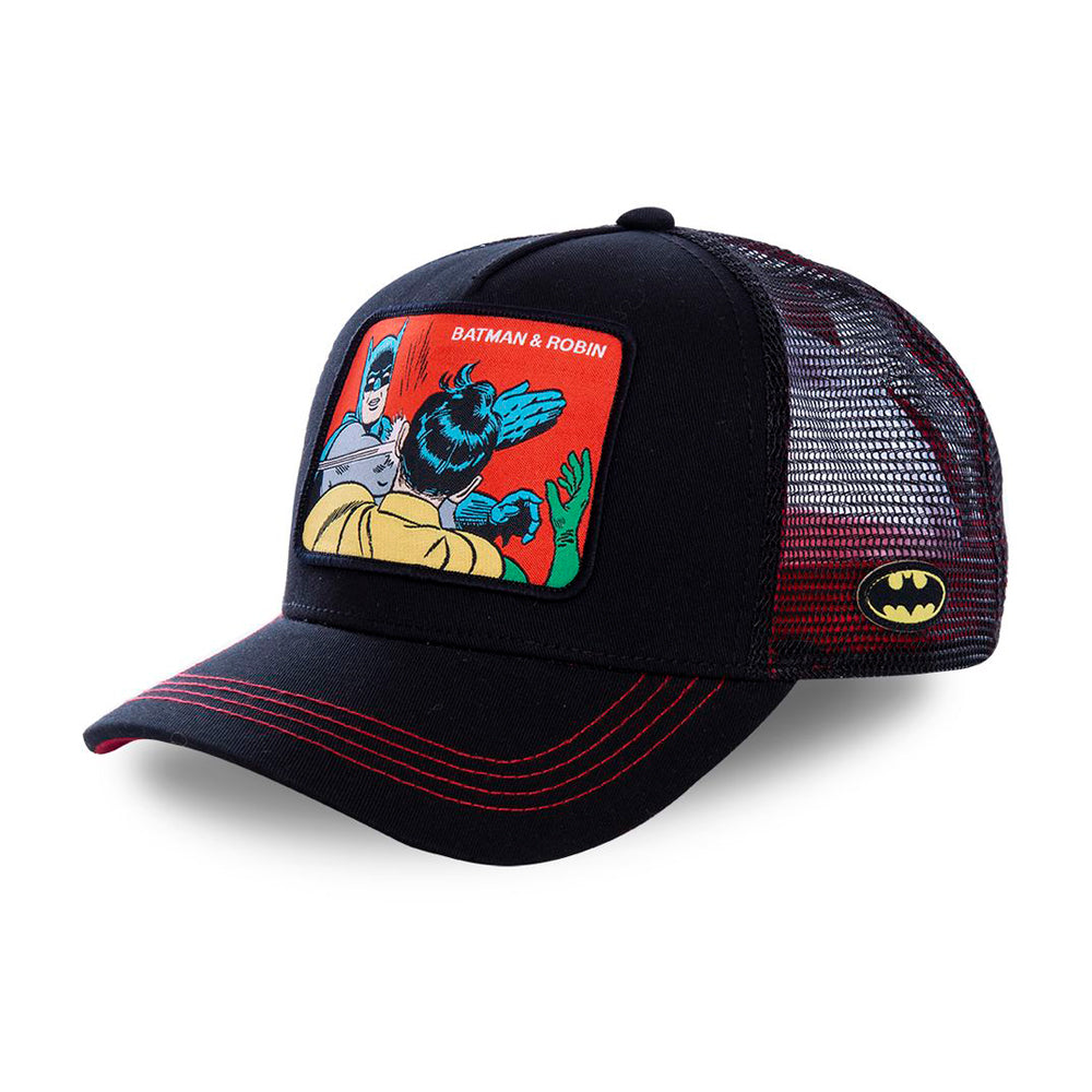 Capslab Batman&Robin Trucker Snapback Black Sort