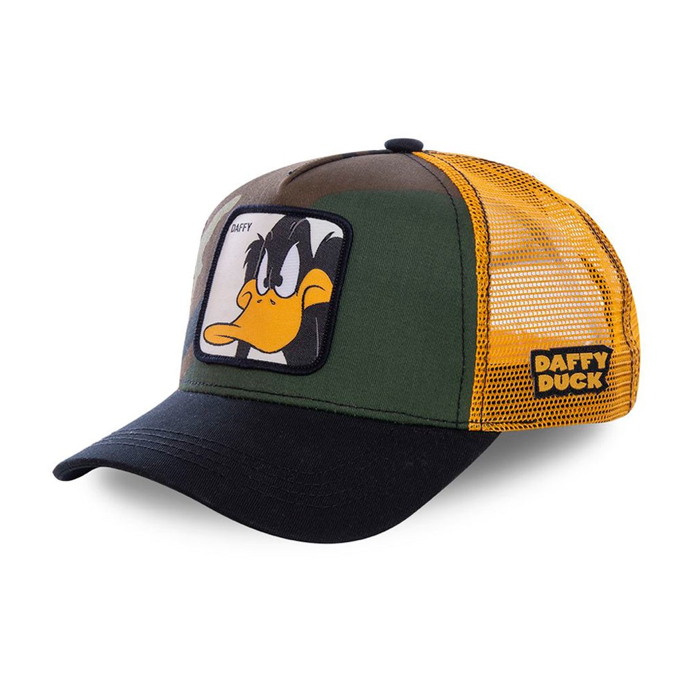Capslab Daffy Trucker Snapback Camo Black Green Yellow Sort Grøn Gul