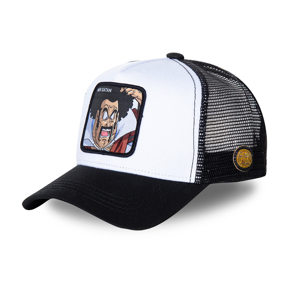 Capslab MR Satan Trucker Snapback Black White Sort Hvid