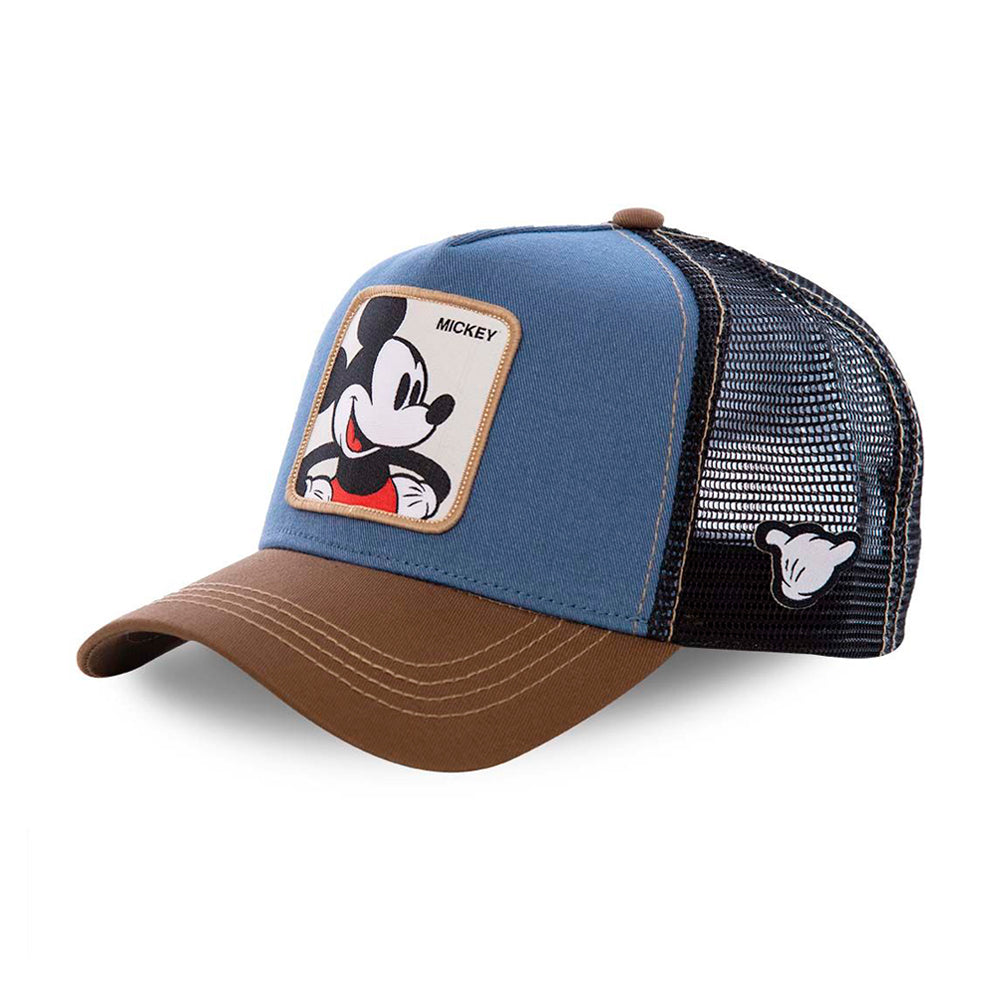 Capslab Disney Mickey Mouse Trucker Snapback Brown Blue Black Brun Blå Sort CL/DIS/1/MIC1