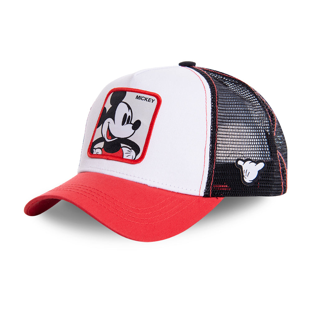 Capslab Mickey Mouse Trucker Snapback Red White Black Rød Hvid Sort