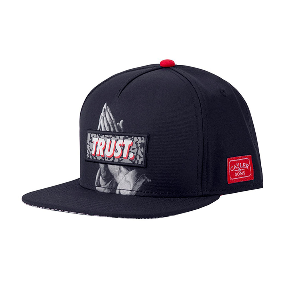 Cayler & Sons Jay Trust Snapback Black Grey Sort Grå CS1350