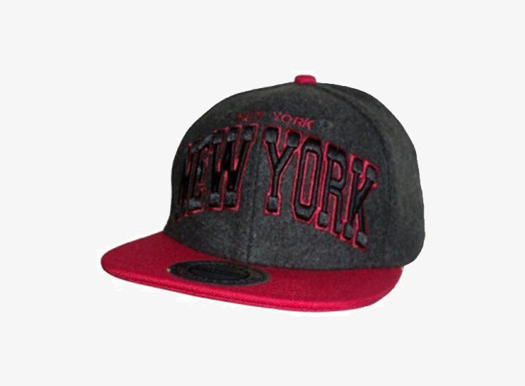 City Hunter New York Snapback Grey Red Grå Rød